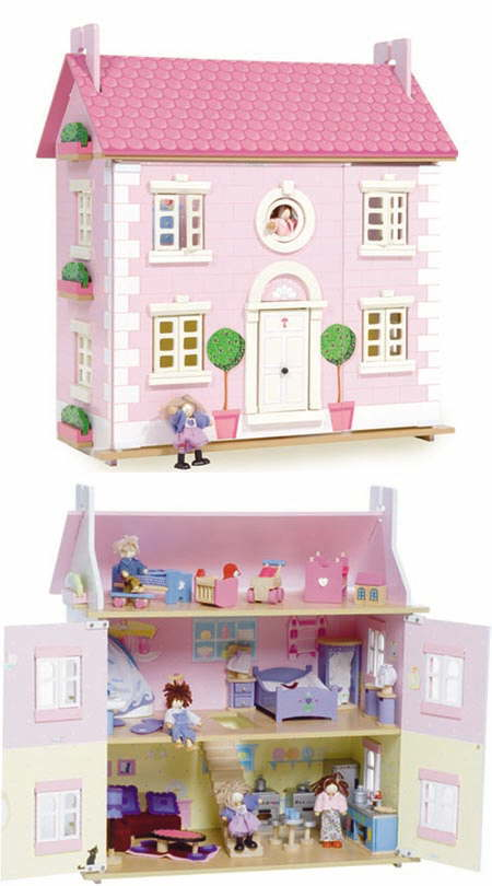 Dolls Houses Made From Wood Mayberry Manor Lavender Sophie Dolls
