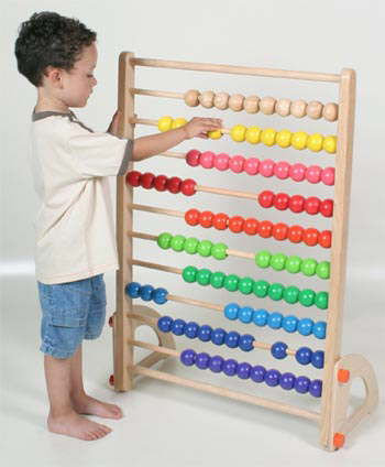 Traditional Wooden Toys Kids Wooden Abacus Bead Frame